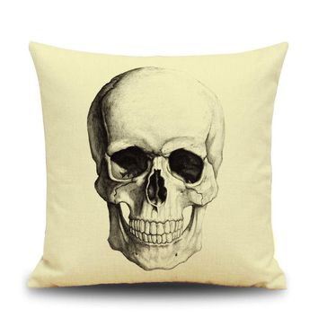 Skull Pattern pillow case pillowcover cushion cases home textile pillow slips set