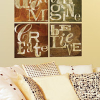 ideeli | LOT26 STUDIO Dream Imagine Believe Create Wall Decals