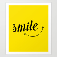 Smile  Art Print by Sara Eshak