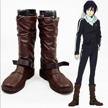 Custom Made Noragami Night Fight Cosplay Shoes 35-43 6-10.5 Hot New Anime Shoes Accessories