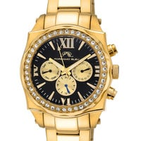Unisex Gold & Crystal Watch