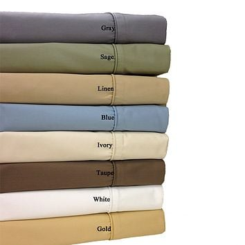 California King IVORY Super Deep Pocket 22-inch Wrinkle Free 650TC Combed Cotton Sheet Set