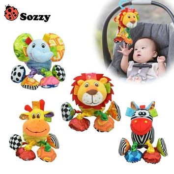 Sozzy Baby Rattle Toys Health Materials Comfortable Soft Feel Newborn Baby Toys 0-12 Month Crib Or Baby Stroller Plush Toys