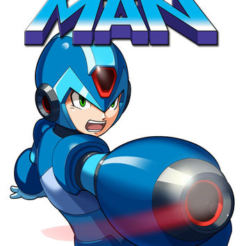 Personalized Video Game Megaman NAME Shirt T-shirt Great Gifts #3