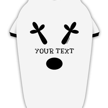Personalized Matching Reindeer Family Design - Your Text Stylish Cotton Dog Shirt