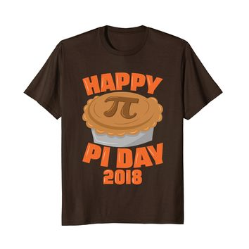 Happy Pi Day 2018 Pie Math Geek Nerd T-Shirt