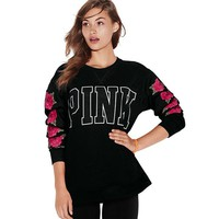 """Pink"" Victoria's Secret Letter Print Multicolor  Top Sweater"