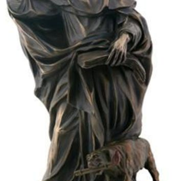 Saint Dominic Statue, Bronze Finish 8H