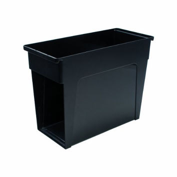 Advantus Desktop File Box, Open Top, Letter Size, Black (55788)