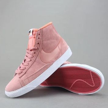 Nike Blazer Mid Suede Vntg Women Men Fashion Casual Old Skool High-Top Shoes-3