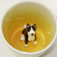 Spotted Bull Terrier Surprise Mug (Made to Order)