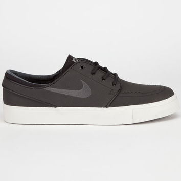 Nike Sb Zoom Stefan Janoski Leather Mens Shoes Black Anthracite Light  Bone Gum Dark Br e9814e13f
