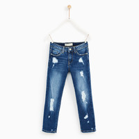 RIPPED JEANS Blue - 10 years (55,1 INCHES)
