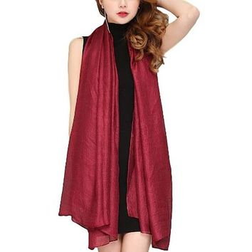 [16007] Women Solid Color Fall Summer Scarf