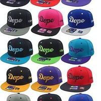 NEW VINTAGE DOPE #DOPE FLAT BILL SNAPBACK CAP HIP HOP HAT MULTIPLE COLORS