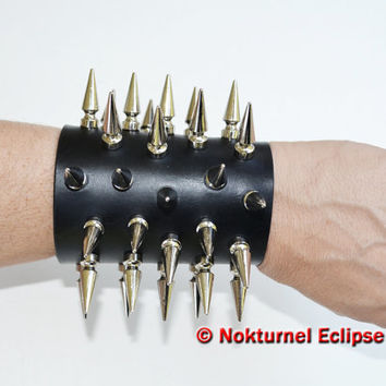 Spiked Leather Cuffs