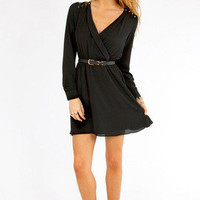 Chip Off Your Shoulder Wrap Dress $42