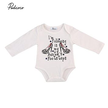 Newborn Baby Long Sleeve Bodysuits Baby Kids Girl Infant Cotton Jumpsuit New Hot Fall Bodysuit Outfit Clothing For Newborns