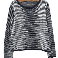 Blue Stripe Knit Sweater