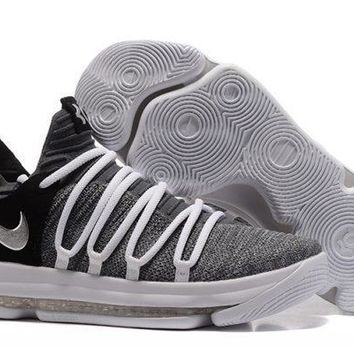 Nike KD 10 Cool Grey ¨C Black/White For Sale