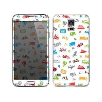 The Colorful Travel Collage Pattern Skin For the Samsung Galaxy S5