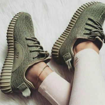 "Fahion ""Adidas"" Women Yeezy Boost Sneakers Running Sports Shoes Green"