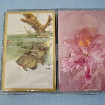 Two Vintage Decks of Playing Cards