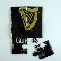 Puzzle made from Guinness beer can - beer can magnet - soda can magnet - beer gift Guinness gift - unique gift for him - unique gift for her