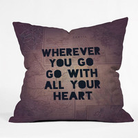Deny Designs Wherever You Go Throw Pillow Purple One Size For Women 23688875001