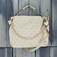 Stormy Skies Studded Tote in Sand