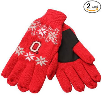 Ohio State Buckeyes Forever Collectibles Knit Lodge Gloves One Size
