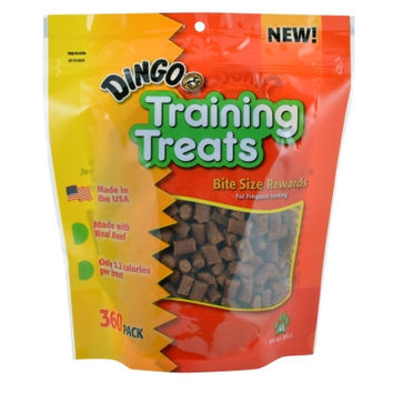Dingo Training Bite Sized Real Beef Treats Made in USA Pack of 360