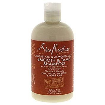 Shea Moisture Argan Oil & Almond Milk Smooth & Tame Shampoo for Unisex, 13 Ounce