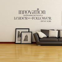 Vinyl Wall Decal Sticker Steve Jobs Innovation Quote OSDC510s