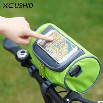 Waterproof Mountain Bike Bicycle Bags Panniers Touch Screen Cycling Phone Bag