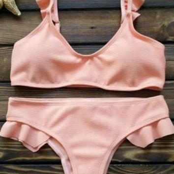 Hot Selling Trend Pure Pure And Fresh Swimsuit Sexy Lace Two Piece Suit Bikini