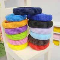 5pcs/lot colorful Hair Ornaments bandage head kids girls Headband elastic band Ring Circle Gum scrunchy hair accessories 603