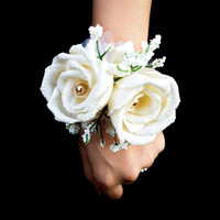 Rose Wrist Corsage,Prom Corsage,Wedding Corsage,Mother of Bride,Bridesmaid Corsage,Dance,Formal,Bridal Shower,Reception