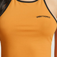Unbothered Graphic Halter Top