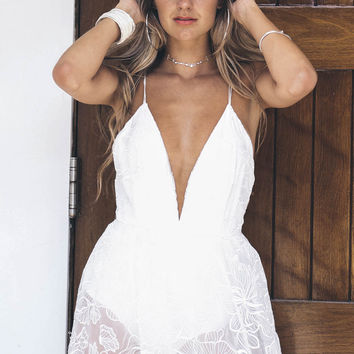 To The Rhythm Ivory Sheer Lace Maxi Dress With Body Suit