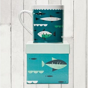 Magpie AHOY! Big Mug With Gift Box - Fish Oversized Coffee Tea Mug