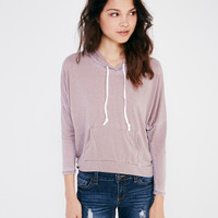 Slouchy Burnout Pullover Hoodie | Wet Seal