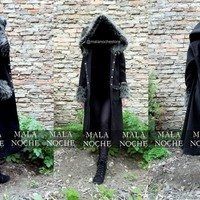 Coat Condesa, Goth coat, dark, gothic, tunic, oversize hood, coat fuzzy, dark, coat gothic, long cape, cape with hood