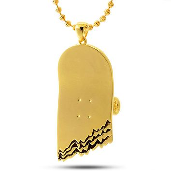 The 14K Gold Broken Skateboard Necklace