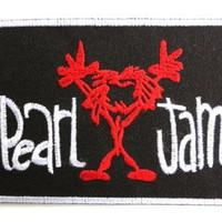 "PEARL JAM Logo Iron On Embroidered Patch 3.9""/9.8cm"
