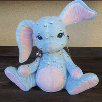 SALE~Vintage Hand-painted Blue Bunny Rabbit Figurine~Was 18.00~NOW 16.00