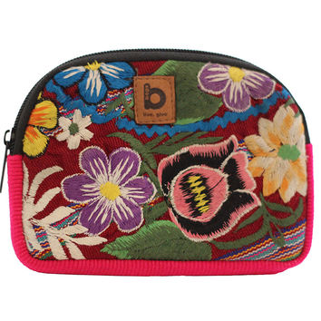 Handmade Guatemala Coin Purse Pouch - Pink