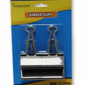 4-Pack Binder Clips - CASE OF 48