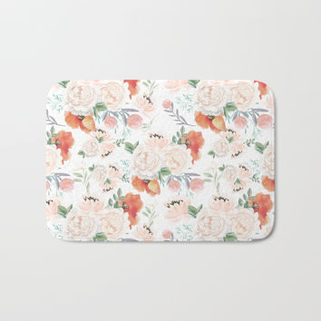 poppies Bath Mat by sylviacookphotography