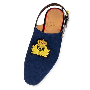 Navy Summer Slip-On by Christian Louboutin